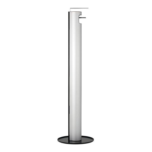 Keuco Plan disinfectant dispenser, freestanding model silver anodised