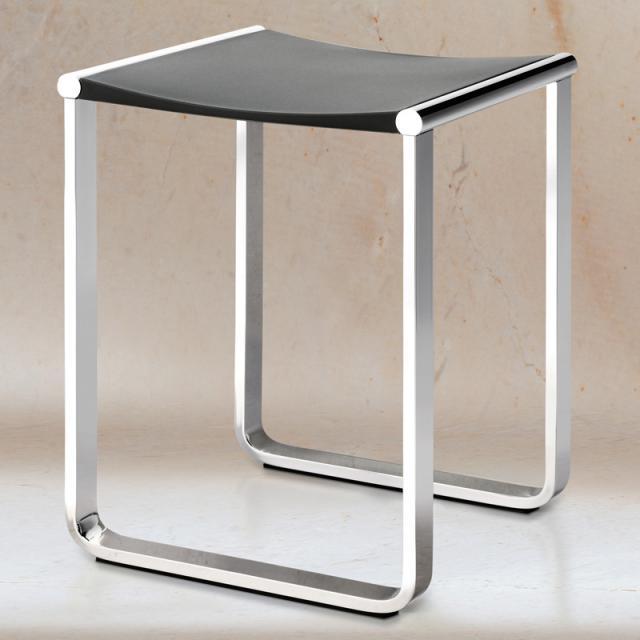 Keuco Plan stool chrome/black grey