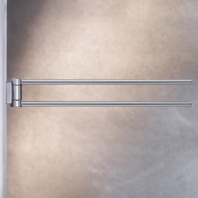 Keuco Plan double towel bar chrome