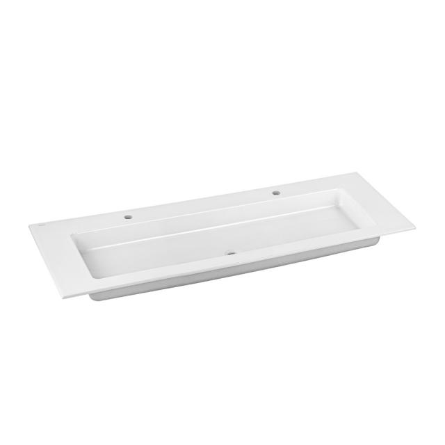 Keuco Royal 60 / Edition 11 ceramic double washbasin with 2 tap holes, without overflow