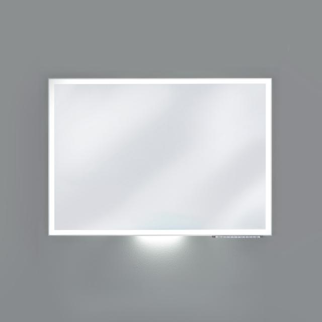 Keuco Royal Lumos mirror with LED lighting silver anodised, with mirror heating