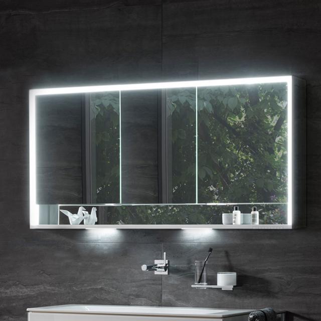 Keuco Royal Lumos mounted mirror cabinet with LED lighting