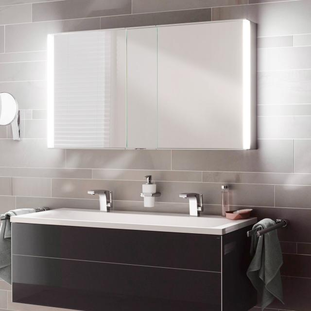 Keuco Royal Match mounted mirror cabinet with LED lighting