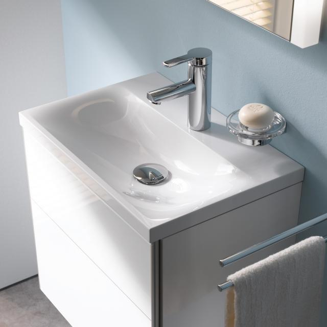 Keuco Royal Reflex mineral cast hand washbasin with 1 tap hole