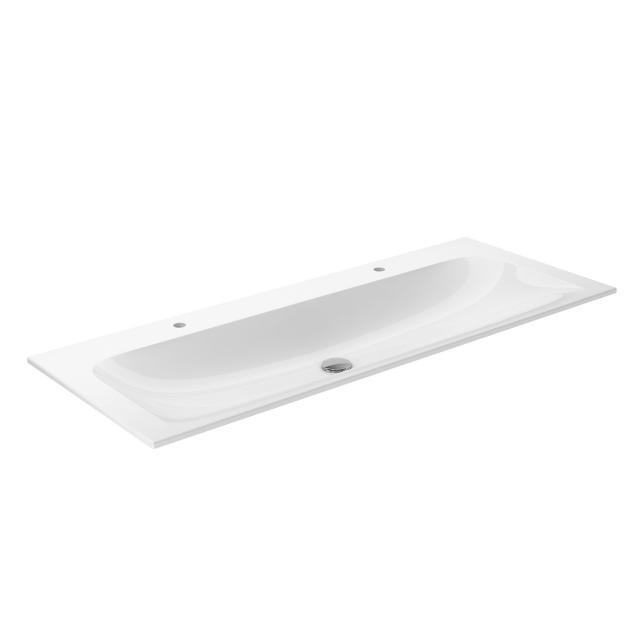 Keuco X-Line ceramic double washbasin 2 tap holes, without overflow