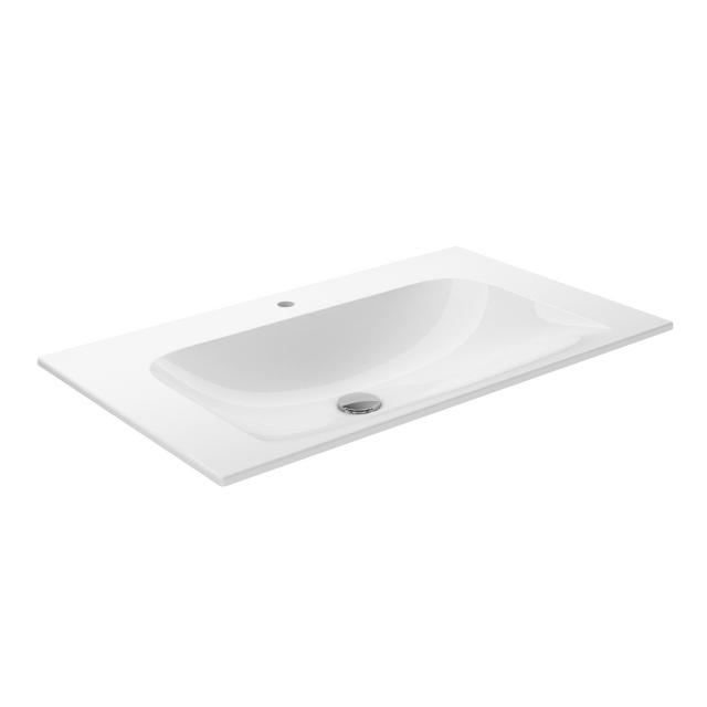 Keuco X-LINE ceramic washbasin 1 tap hole, with concealed overflow