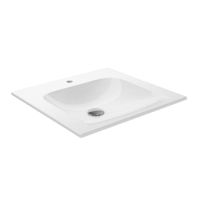 Keuco X-Line ceramic washbasin with 1 tap hole, with concealed overflow