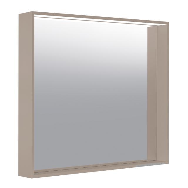 Keuco X-Line mirror with DALI LED lighting silk matt truffle, with mirror heating