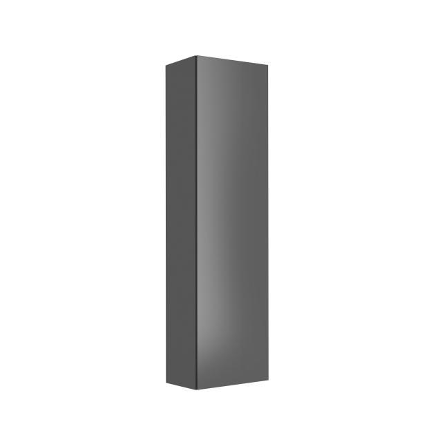 Keuco X-Line tall unit with 1 door front anthracite / corpus silk matt anthracite