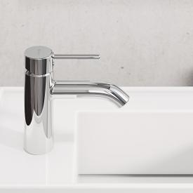 Kludi BOZZ New basin fitting 100 with push-open waste set, chrome
