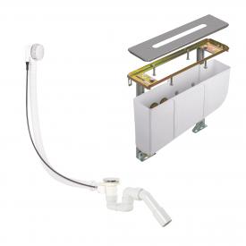 Kludi concealed installation set for four hole, deck-mounted fittings