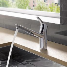 Kludi OBJEKTA kitchen fitting with swivel spout, for low pressure