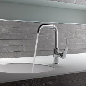 Kludi OBJEKTA single lever basin mixer with swivel spout without waste set