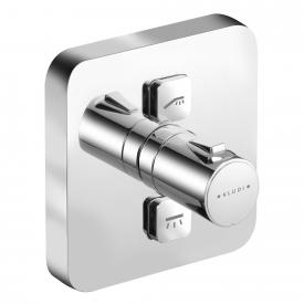 Kludi PUSH concealed, thermostatic shower mixer, square, 2 outlets
