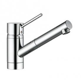 Kludi SCOPE kitchen fitting with pull-out spout chrome