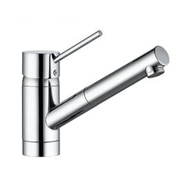 Kludi SCOPE single lever kitchen mixer DN 8 for low pressure, pull-out spout