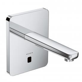 Kludi ZENTA electronic basin mixer, soft edge escutcheon, without temperature handle projection: 190 mm