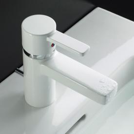 Kludi ZENTA single lever basin mixer with pop-up waste set, chrome/white