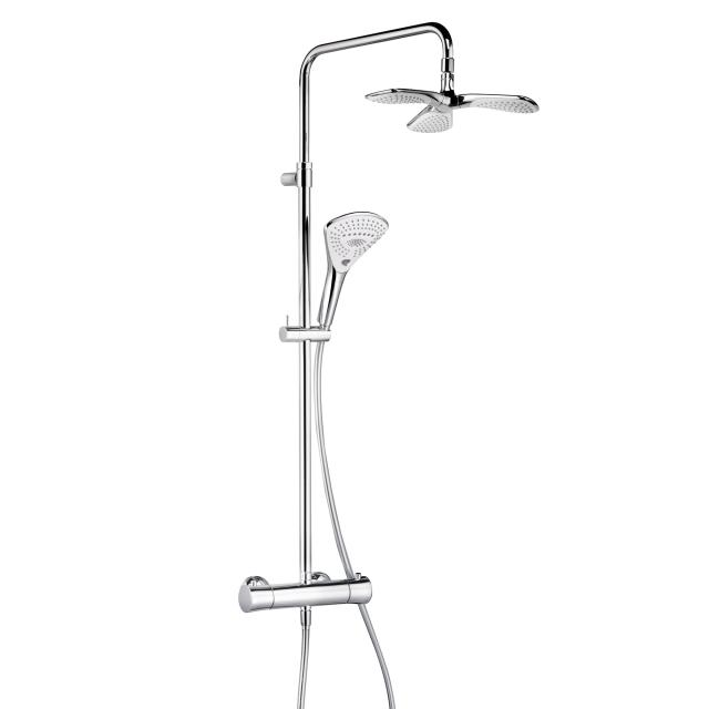 Kludi FIZZ thermostatic dual shower system with thermostatic mixer