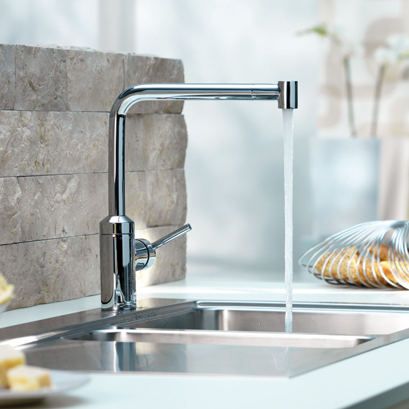 Kludi L-INE kitchen fitting with telescopic spout