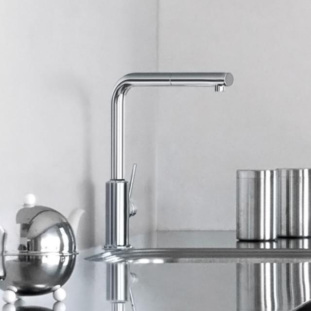 Kludi L-INE S kitchen fitting, swivel spout chrome