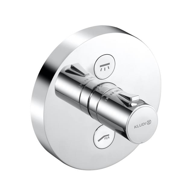 Kludi PUSH concealed thermostatic shower fitting, round