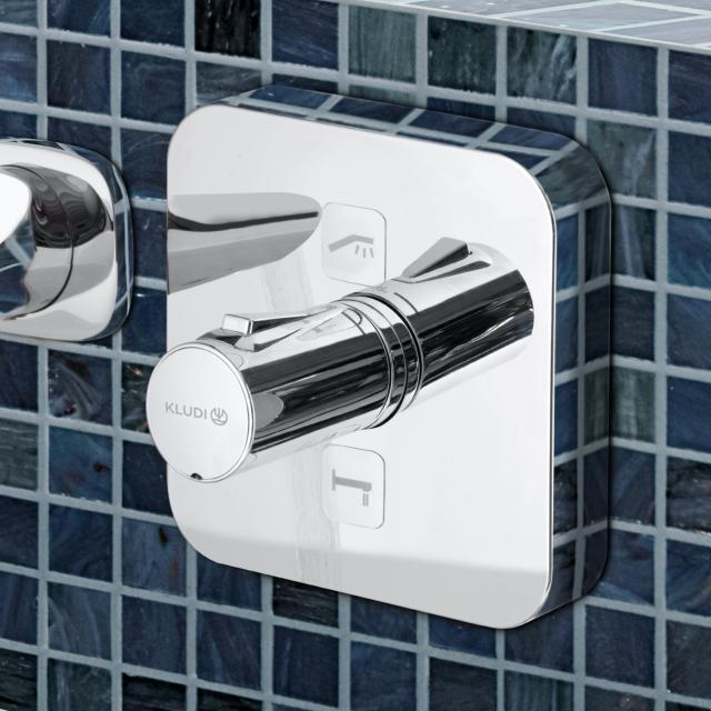 Kludi PUSH concealed thermostatic shower fitting, square