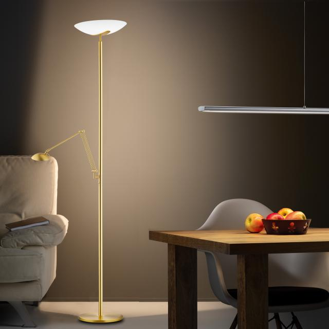 Knapstein LED floor lamp with arm and dimmer