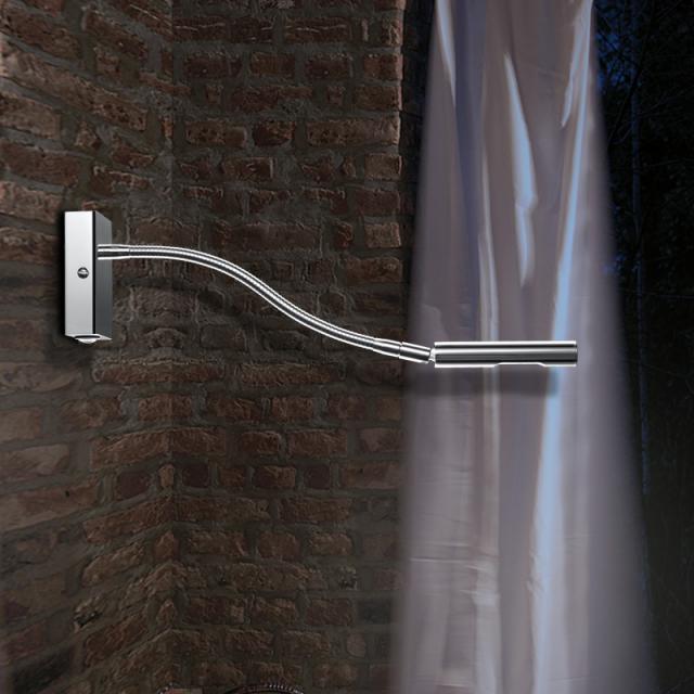 Knapstein LED wall light / spotlight with switch