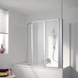 Koralle Avant 3 piece folding bath screen TSG transparent incl. GlasPlus / matt silver