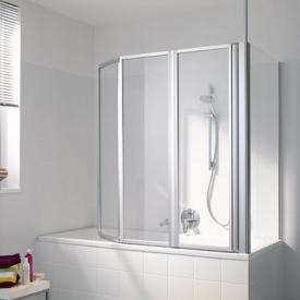 Koralle Avant bath screen Polyrit aquaperl transparent / matt silver