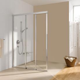 Koralle myDay Comfort sliding door corner entry 3 piece ESFBF3S part TSG transparent / matt silver