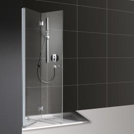Koralle myDay folding door for partition TFTA TSG transparent / matt silver
