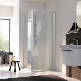 Koralle myDay swing door for partition TPWA TSG transparent / matt silver