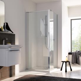 Koralle myDay swing door for partition TPWA TSG transparent incl. GlasPlus / polished silver