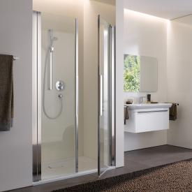 Koralle myDay swing door for recess 2 piece NP2W TSG transparent incl. GlasPlus / polished silver