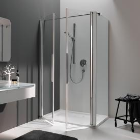 Koralle myDay partition for swing door WN TSG transparent incl. GlasPlus / matt silver