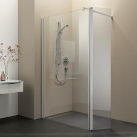 Koralle myDay Walk In with swing element WWP TSG transparent incl. GlasPlus / matt silver