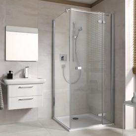Koralle S500Plus partition for wing door TSG transparent incl. GlasPlus / polished silver
