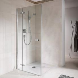 Koralle S500Plus wing door corner entry TSG transparent incl. GlasPlus / polished silver