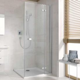 Koralle S500Plus wing door for partition TSG transparent incl. GlasPlus / polished silver