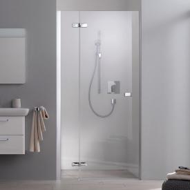 Koralle S500Plus wing door for recess TSG transparent incl. GlasPlus / polished silver