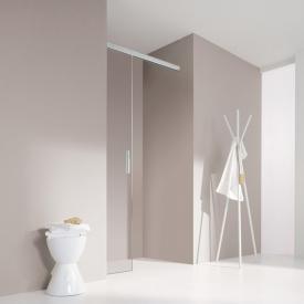 Koralle S606Plus sliding door in recess, slides behind a wall TSG transparent / silver high gloss/high gloss