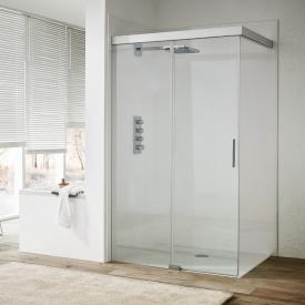 Koralle S606Plus Walk In sliding door TSG transparent/silver high gloss/high gloss