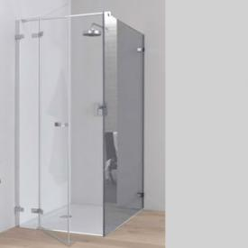 Koralle S700 partition for swing door TSG transparent / Shiny silver