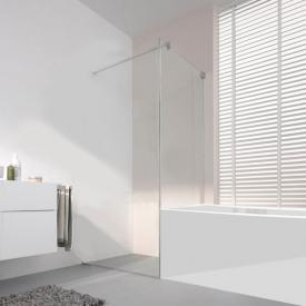 Koralle S808 short partition for swing door TSG transparent incl. GlasPlus / silver high gloss