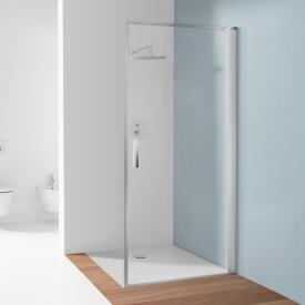 Koralle SL410 hinged door for partition TSG transparent with GlasPlus / matt silver