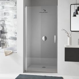 Koralle SL410 hinged door for recess TSG transparent / matt silver