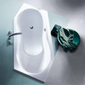 Koralle T200 hexagonal bath, headrest left, left room corner white, front overflow