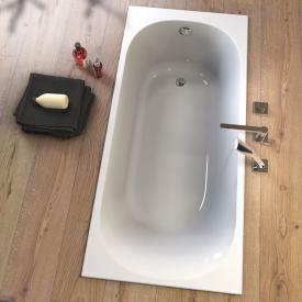 Koralle T300 rectangular bath with 1 slanted backrest